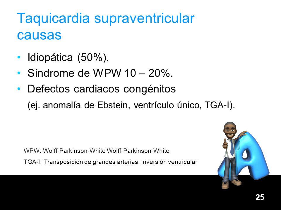 Taquicardia supraventricular causas