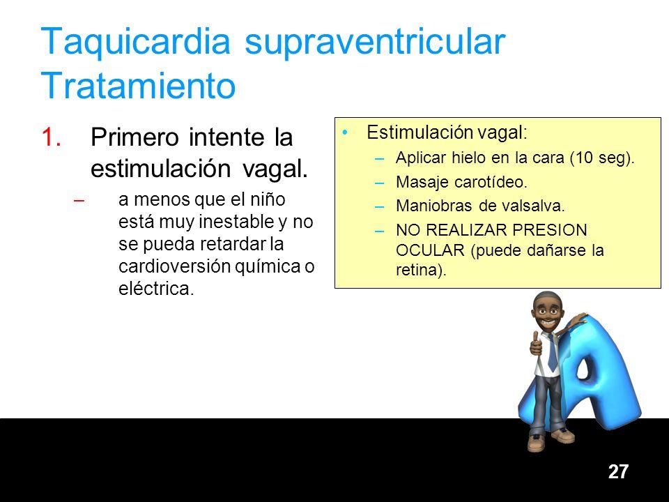 Taquicardia supraventricular Tratamiento