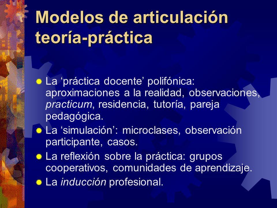 Modelos de articulación teoría-práctica