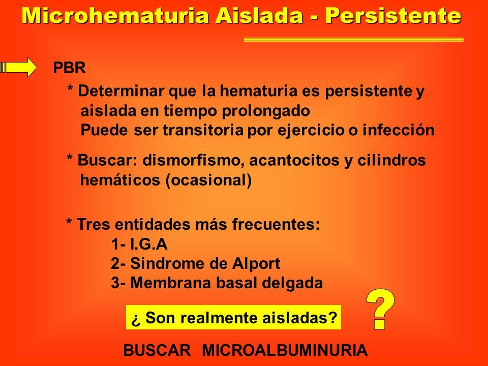Microhematuria Aislada - Persistente