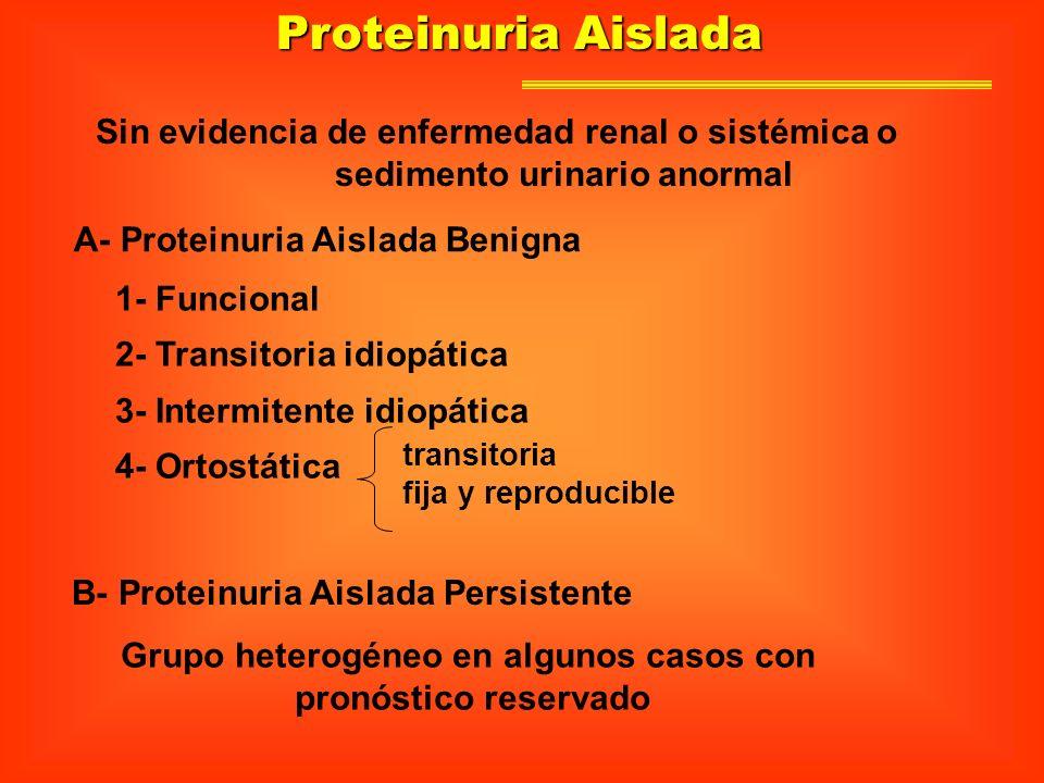 sedimento urinario anormal Grupo heterogéneo en algunos casos con