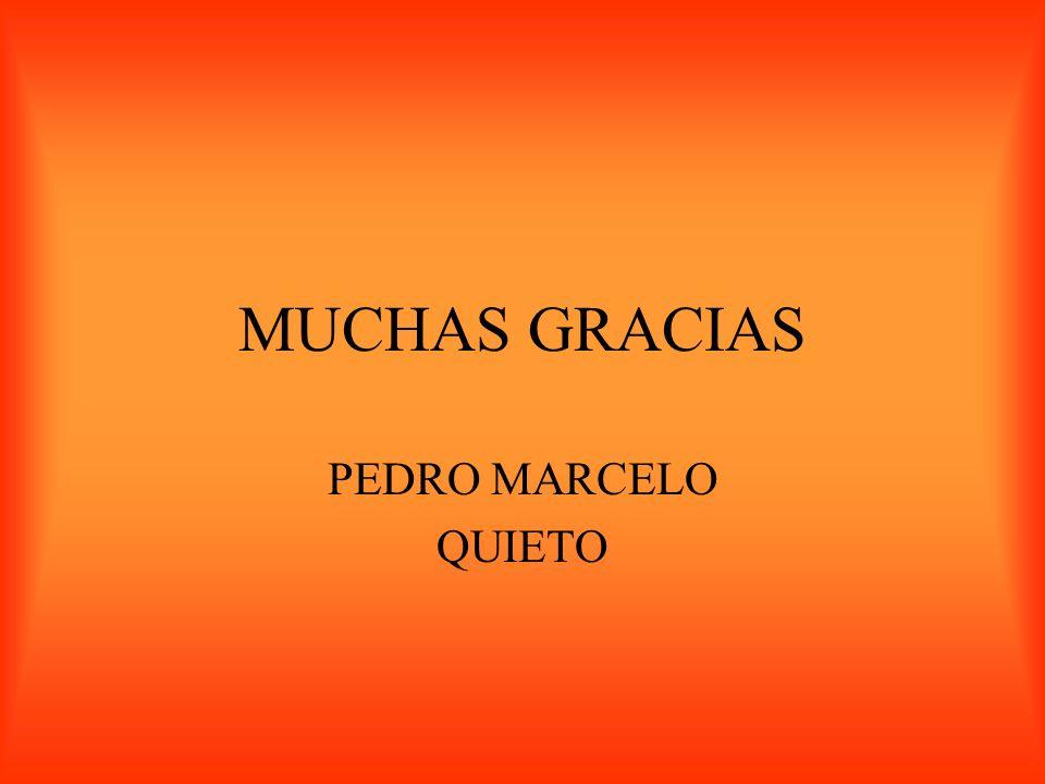 MUCHAS GRACIAS PEDRO MARCELO QUIETO