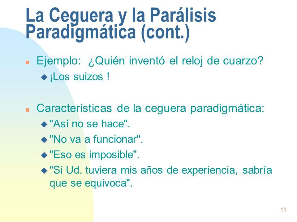 La Ceguera y la Parálisis Paradigmática (cont.)