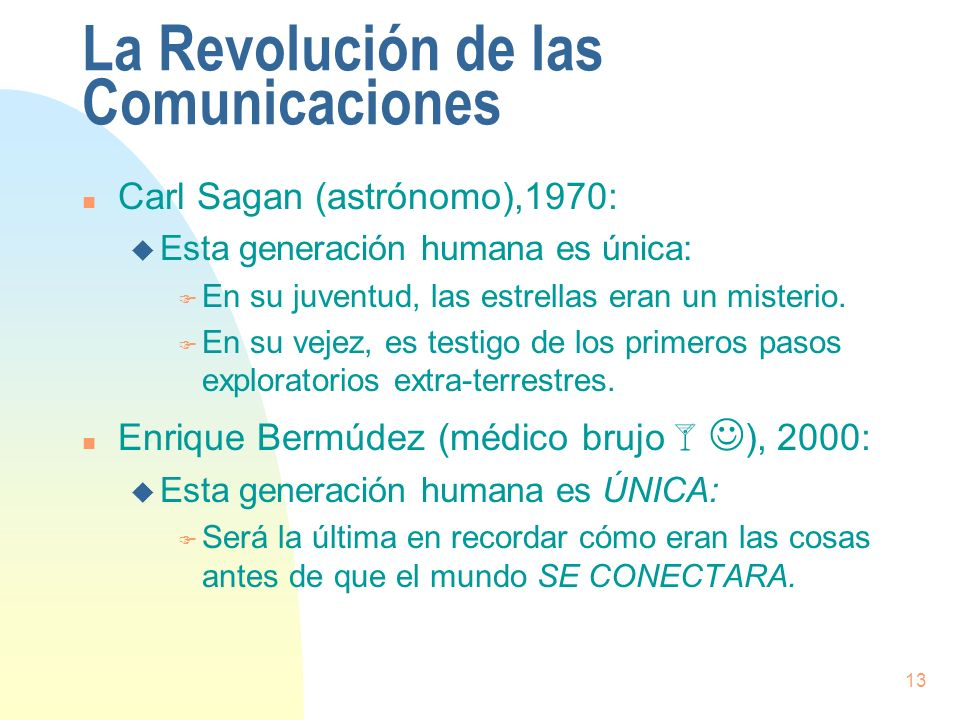 La Revolución de las Comunicaciones