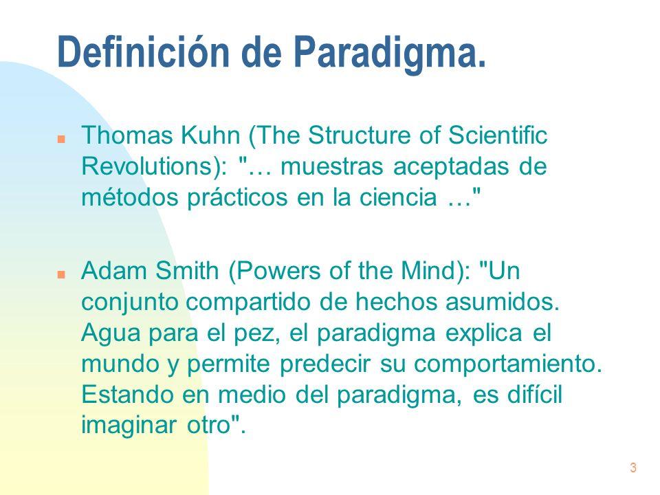 Definición de Paradigma.