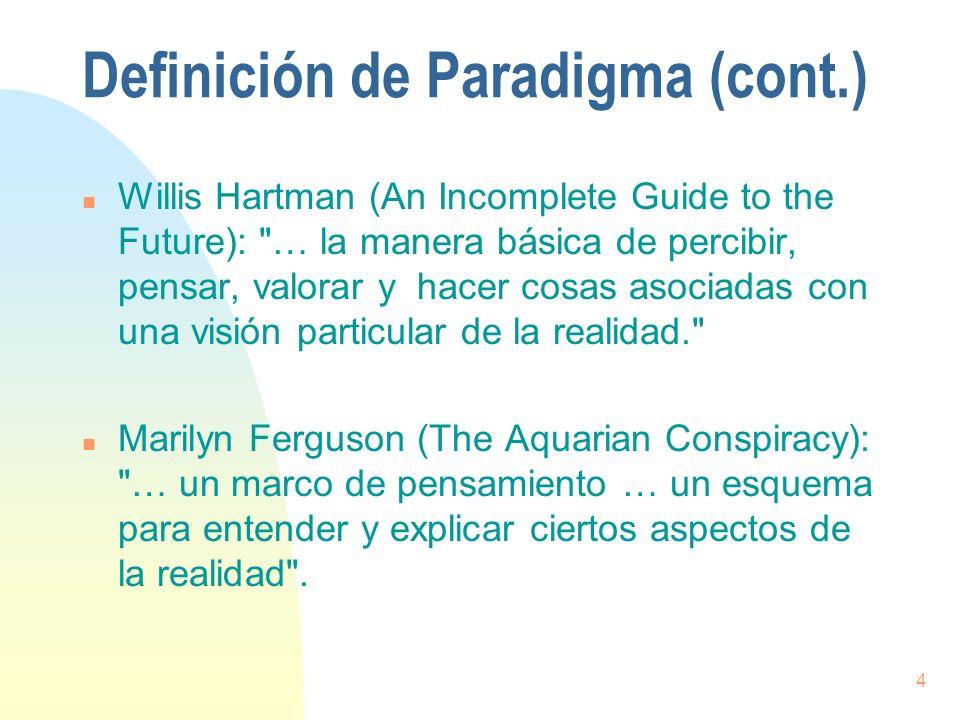 Definición de Paradigma (cont.)