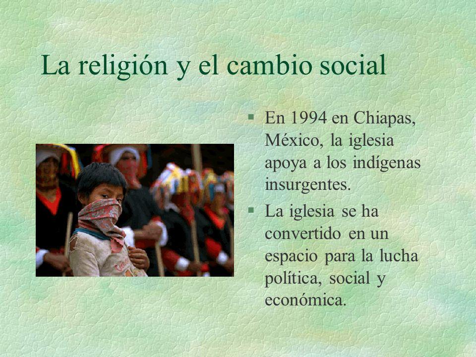La religión y el cambio social