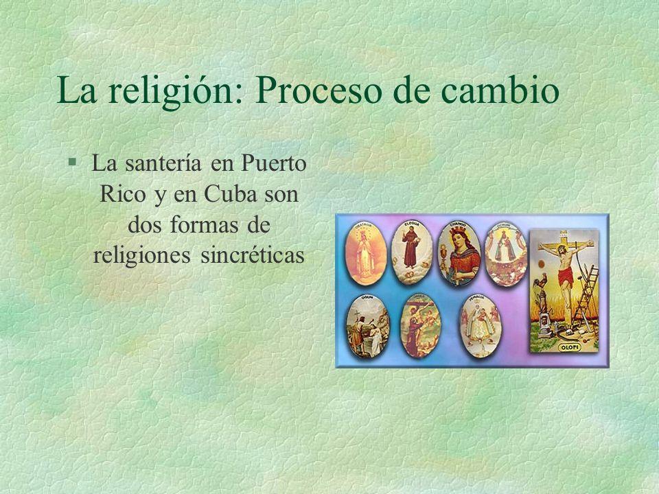 La religión: Proceso de cambio