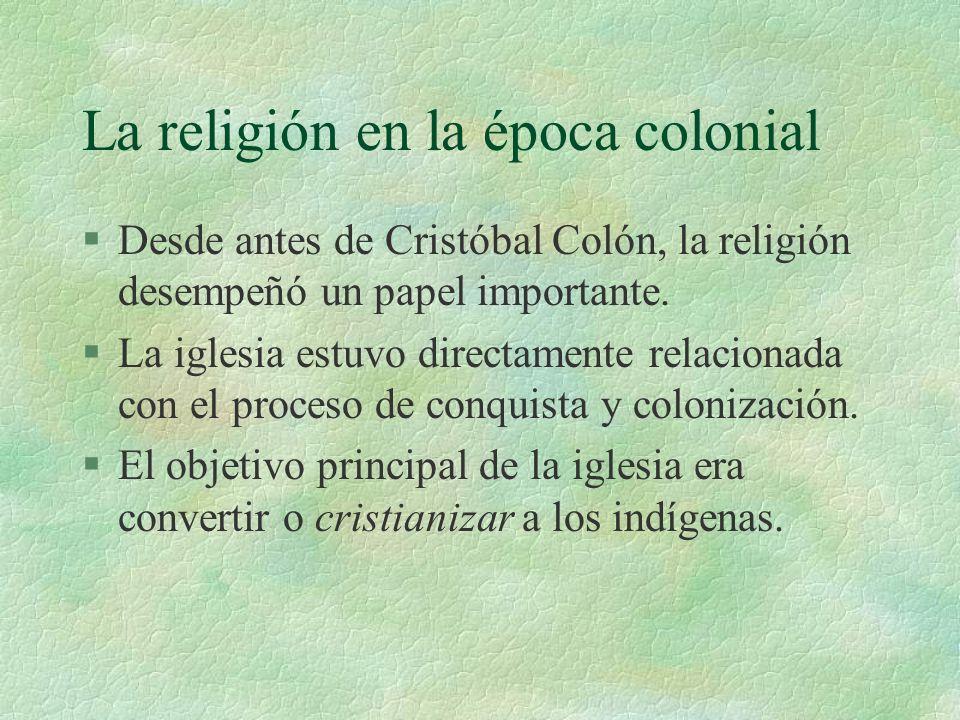 La religión en la época colonial