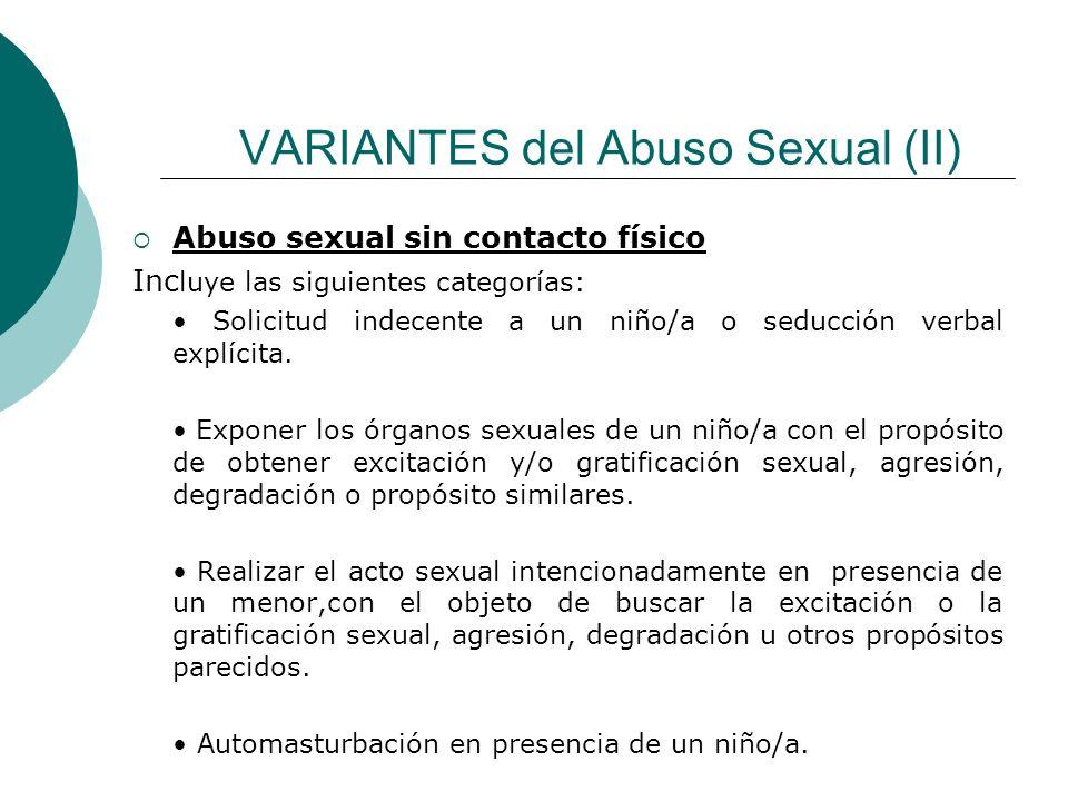VARIANTES del Abuso Sexual (II)