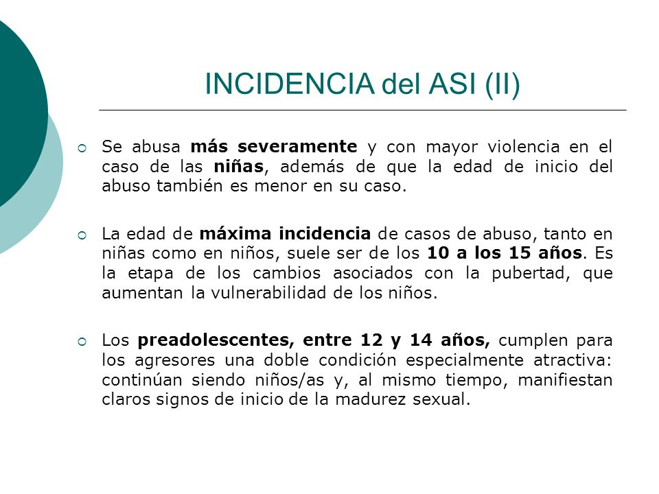 INCIDENCIA del ASI (II)