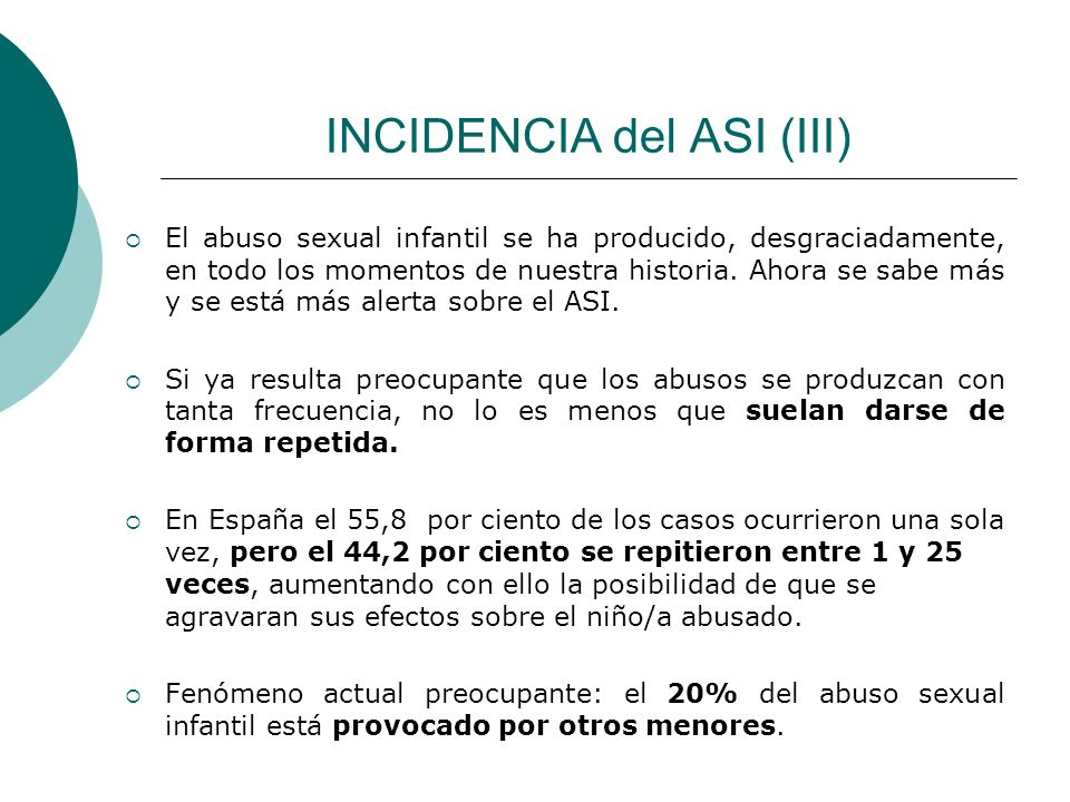 INCIDENCIA del ASI (III)