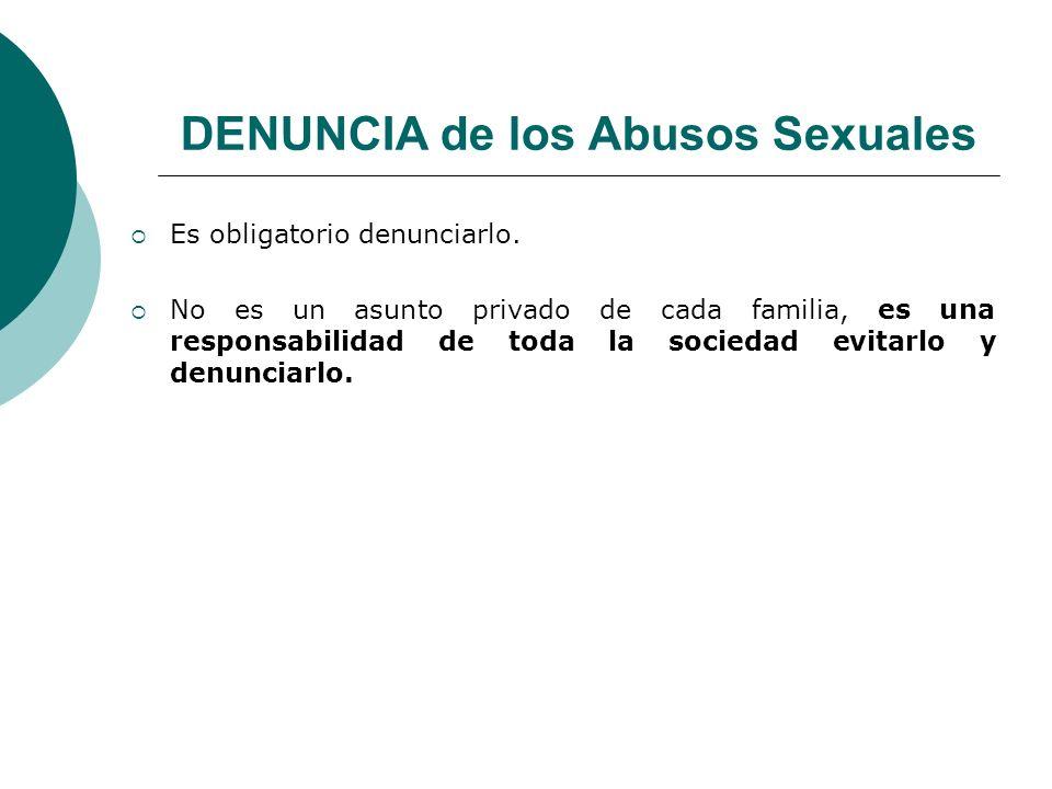 DENUNCIA de los Abusos Sexuales
