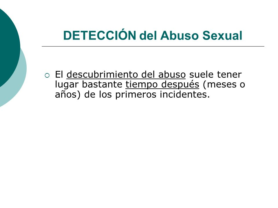 DETECCIÓN del Abuso Sexual