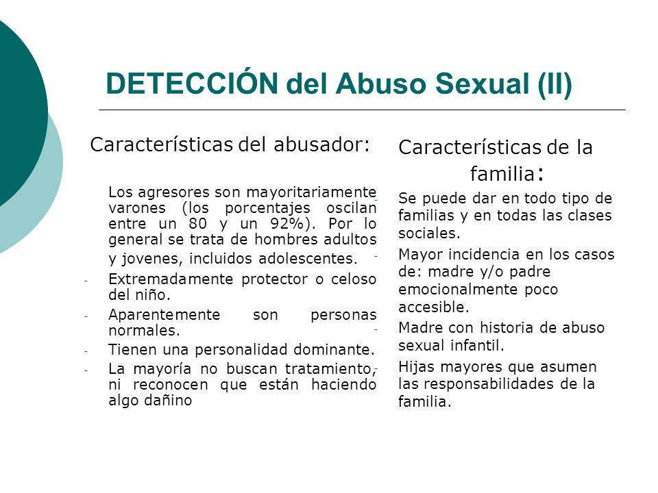 DETECCIÓN del Abuso Sexual (II)