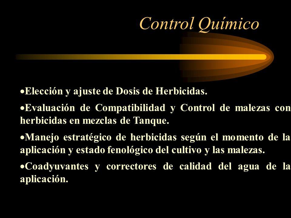 Control Químico Elección y ajuste de Dosis de Herbicidas.