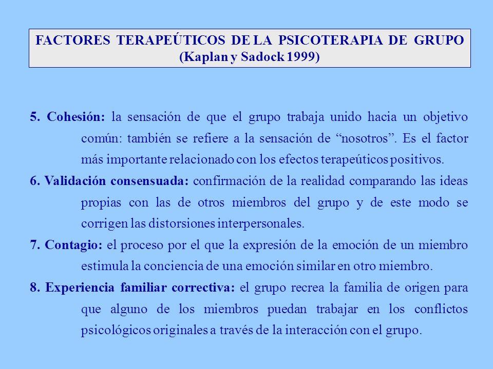 FACTORES TERAPEÚTICOS DE LA PSICOTERAPIA DE GRUPO