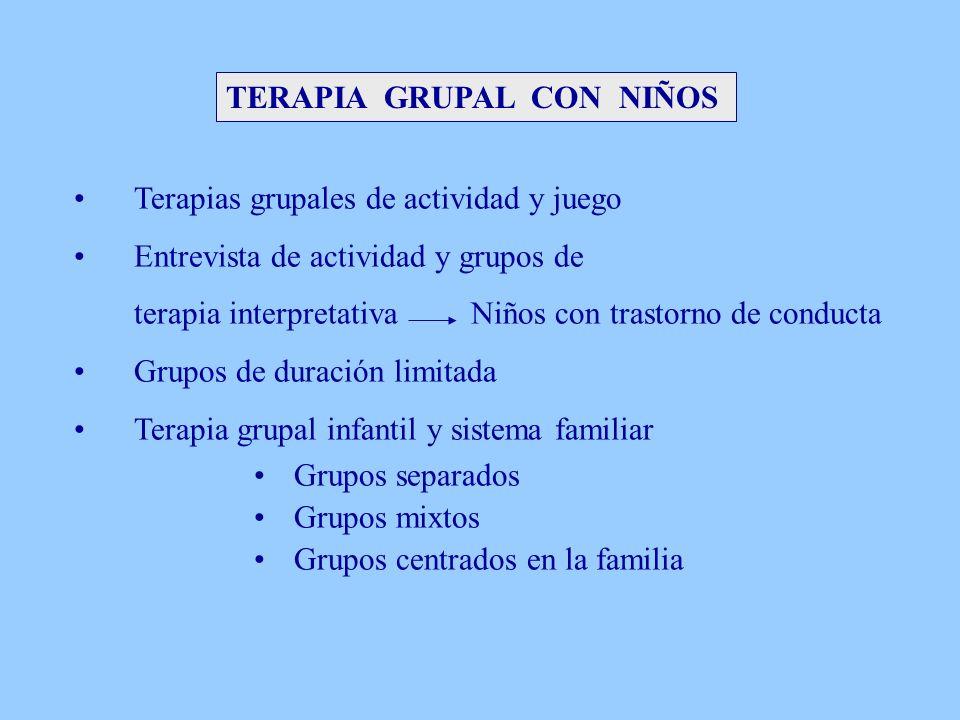 TERAPIA GRUPAL CON NIÑOS