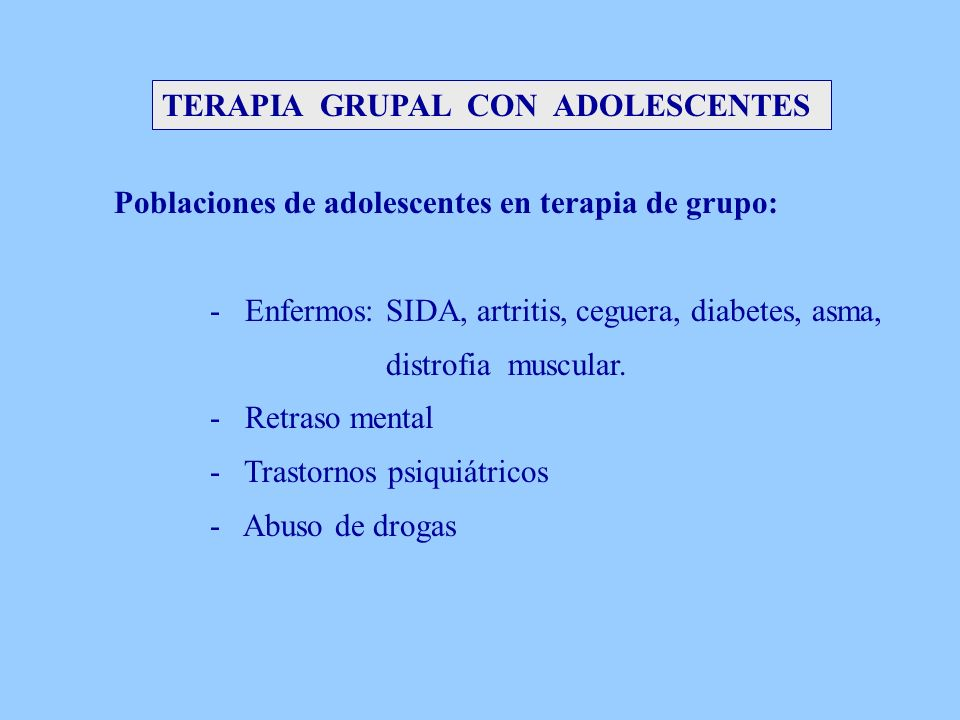 TERAPIA GRUPAL CON ADOLESCENTES