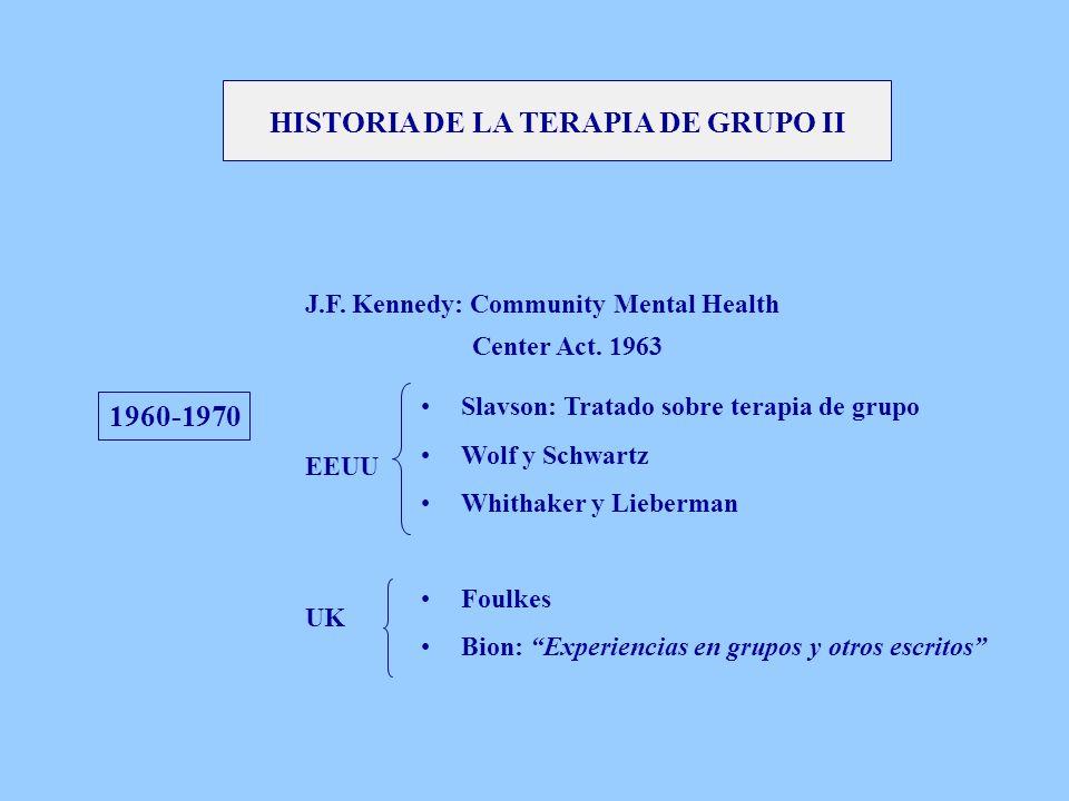 HISTORIA DE LA TERAPIA DE GRUPO II