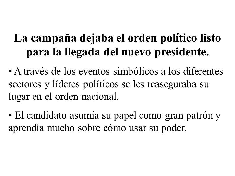 La campaña dejaba el orden político listo para la llegada del nuevo presidente.