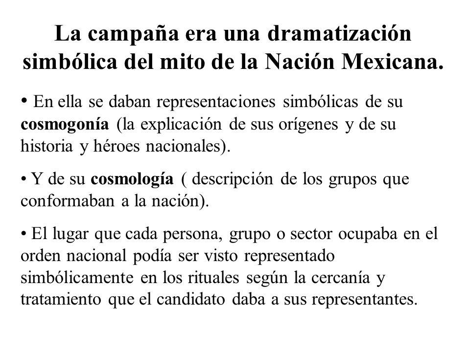La campaña era una dramatización simbólica del mito de la Nación Mexicana.