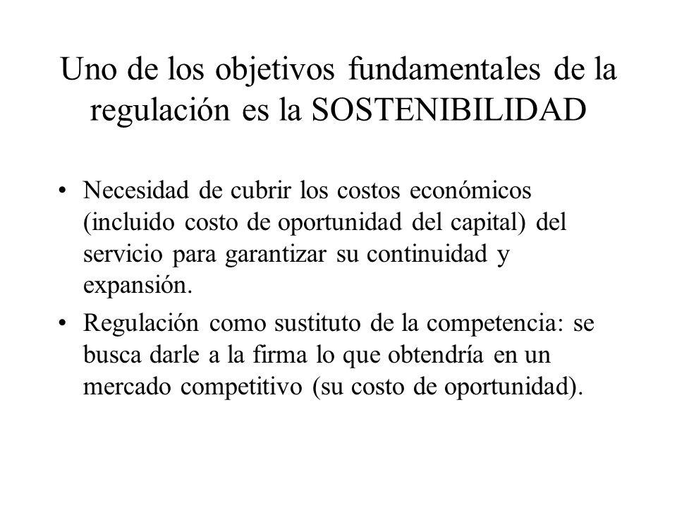 Uno de los objetivos fundamentales de la regulación es la SOSTENIBILIDAD