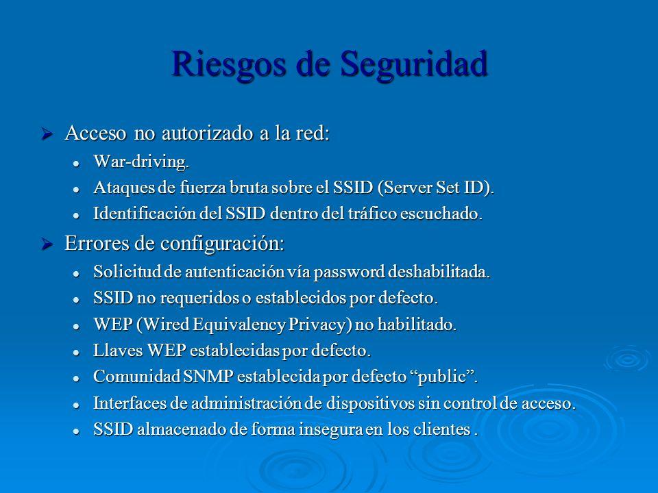 Riesgos de Seguridad Acceso no autorizado a la red: