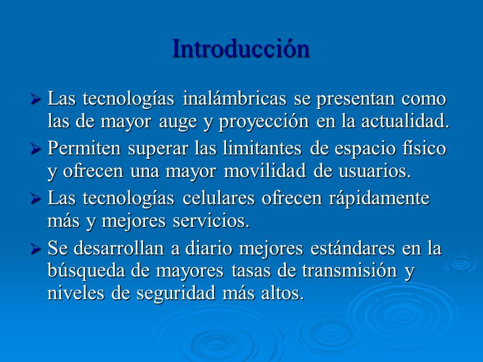 Introducción Las tecnologías inalámbricas se presentan como las de mayor auge y proyección en la actualidad.