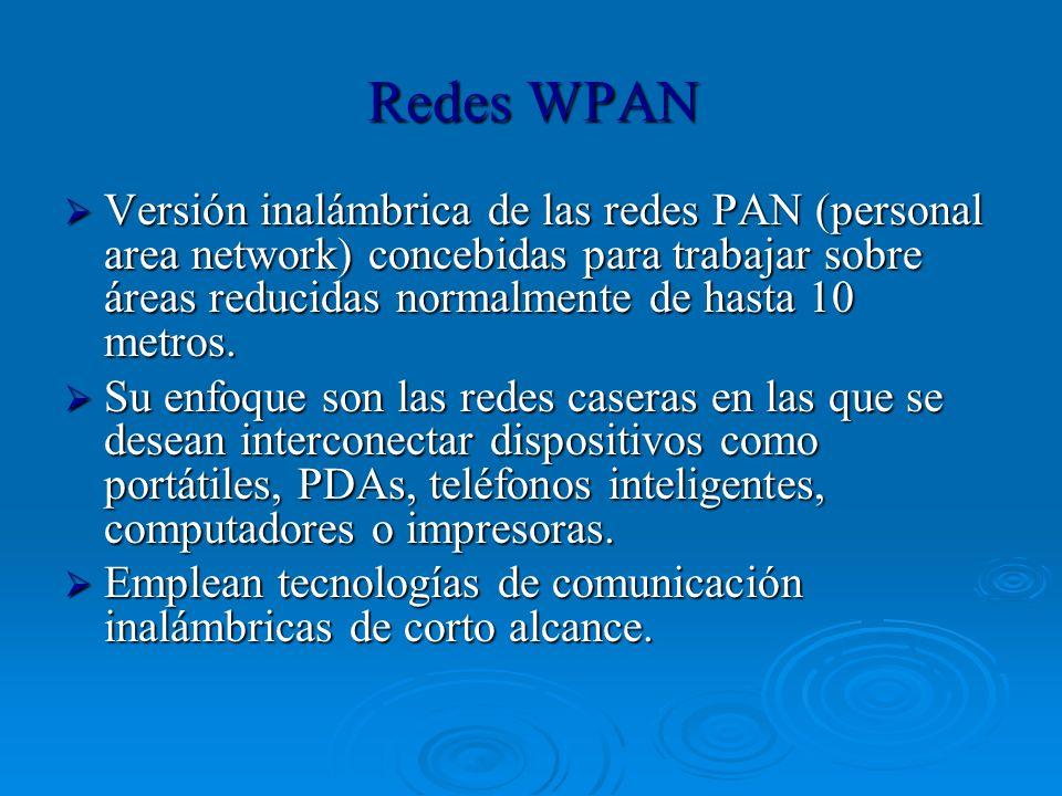 Redes WPAN