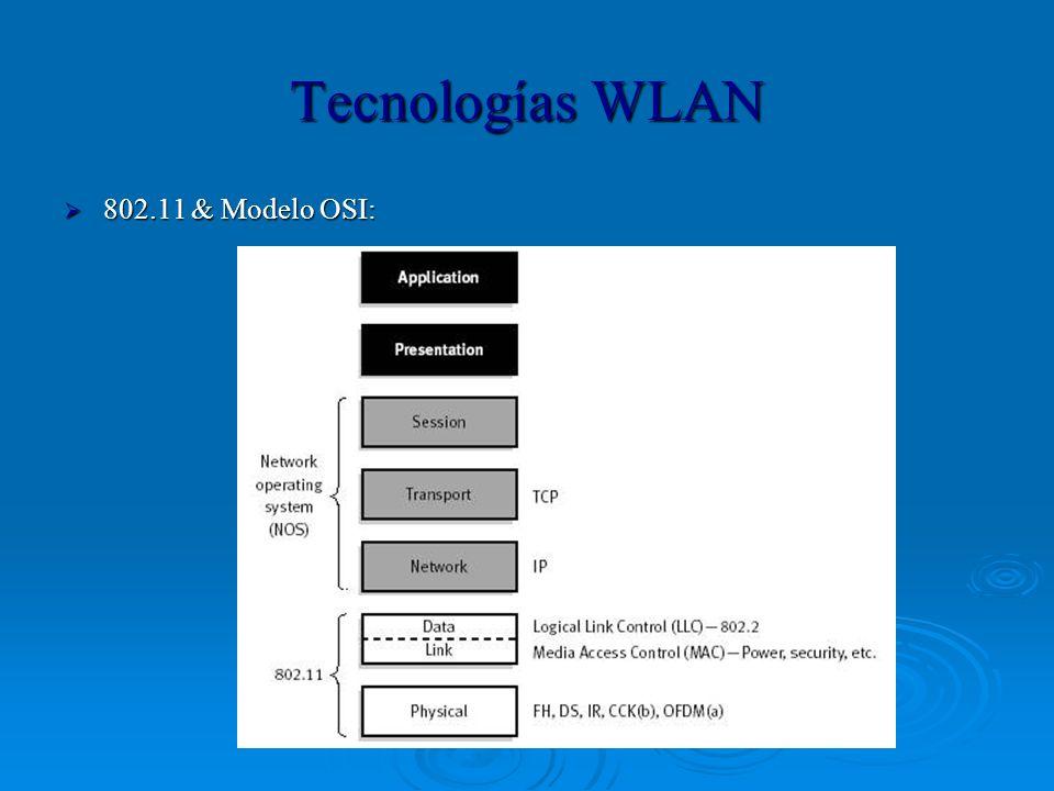 Tecnologías WLAN 802.11 & Modelo OSI: