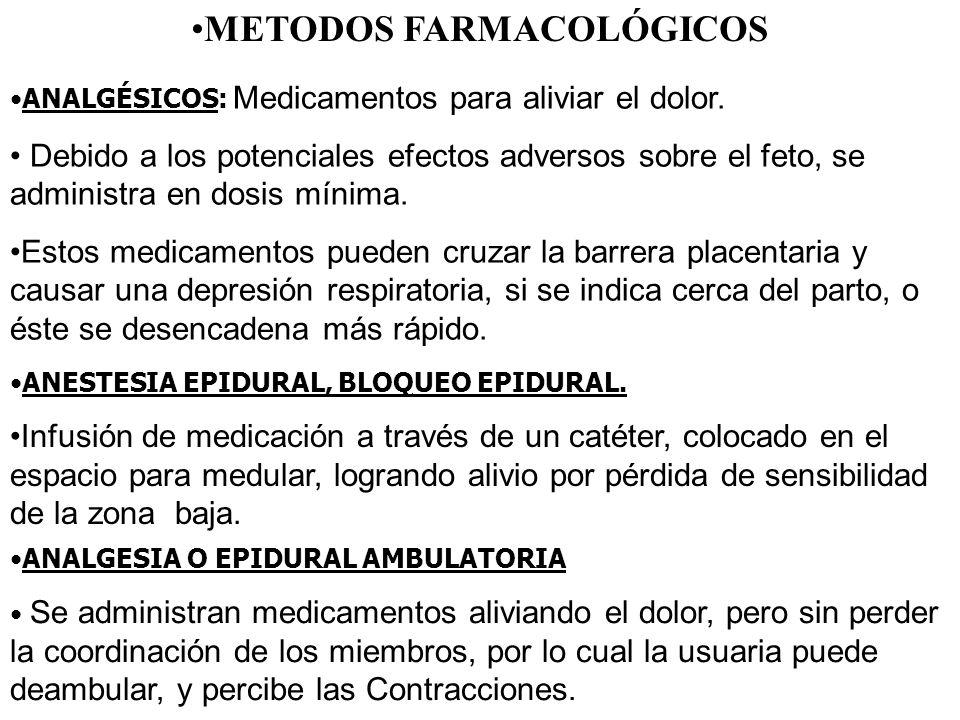 METODOS FARMACOLÓGICOS