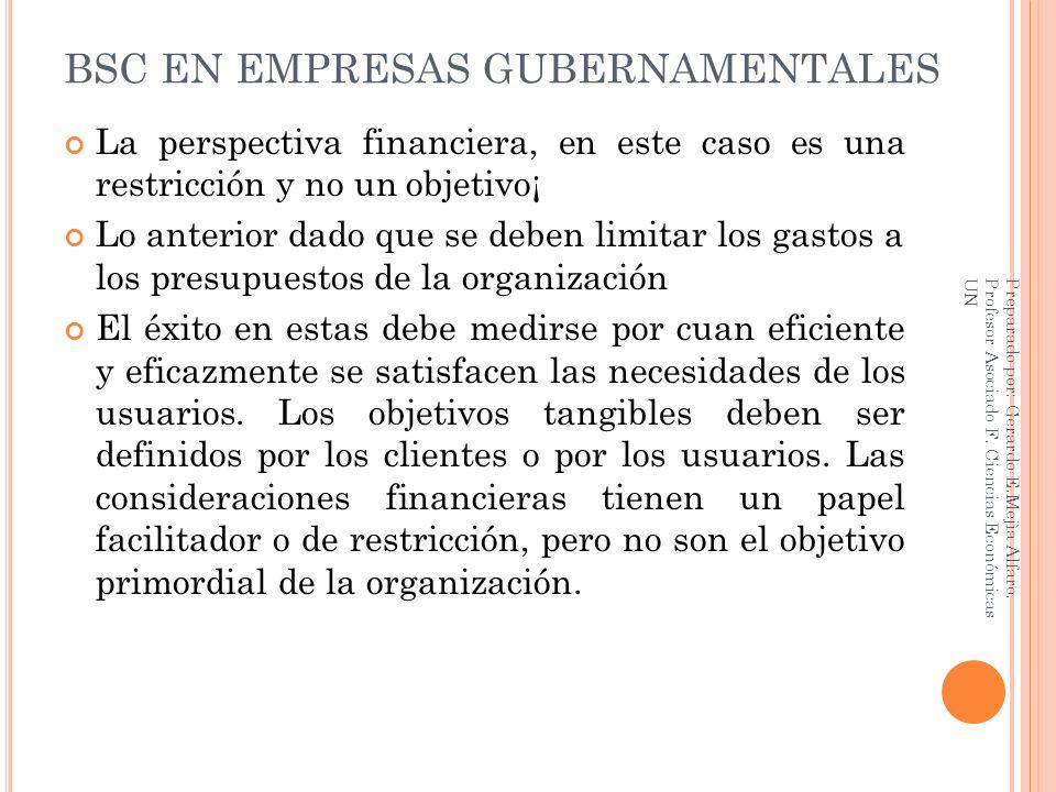 BSC EN EMPRESAS GUBERNAMENTALES