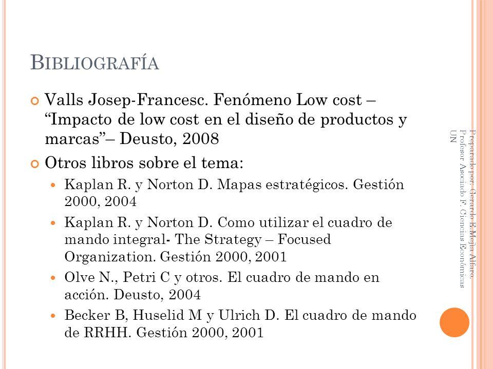 Bibliografía Valls Josep-Francesc. Fenómeno Low cost – Impacto de low cost en el diseño de productos y marcas – Deusto, 2008.