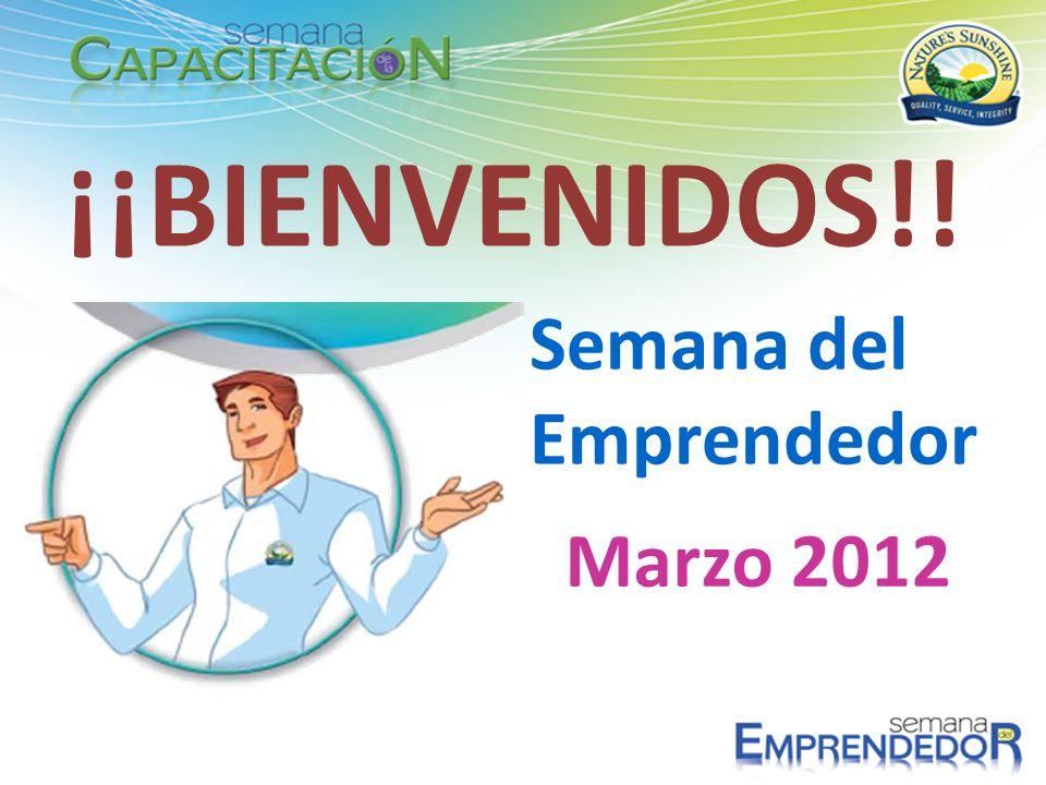 ¡¡BIENVENIDOS!! Semana del Emprendedor Marzo 2012