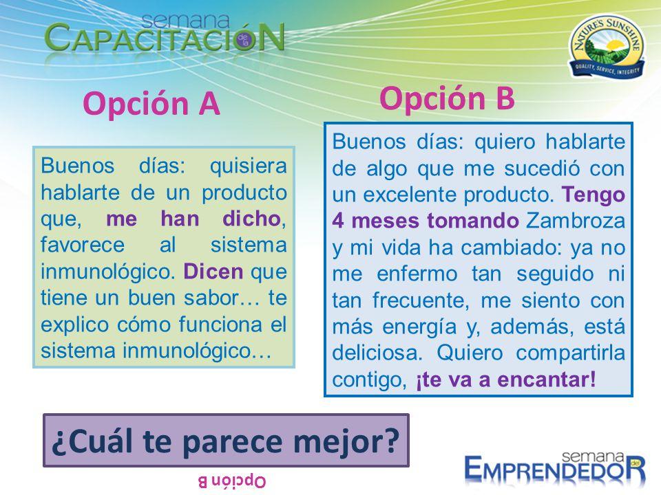 Opción B Opción A ¿Cuál te parece mejor