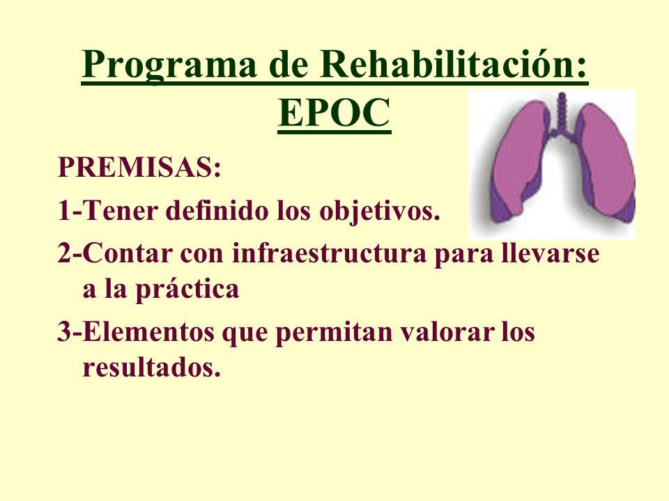 Programa de Rehabilitación: EPOC