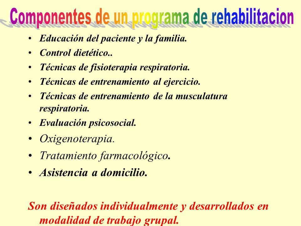 Componentes de un programa de rehabilitacion