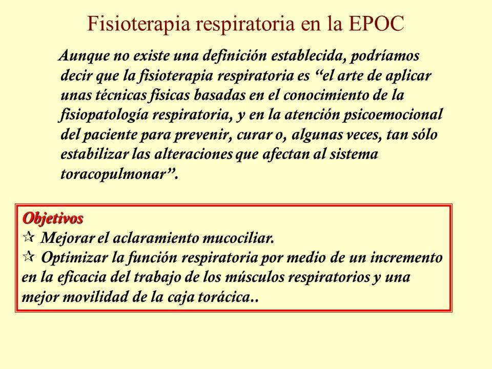 Fisioterapia respiratoria en la EPOC