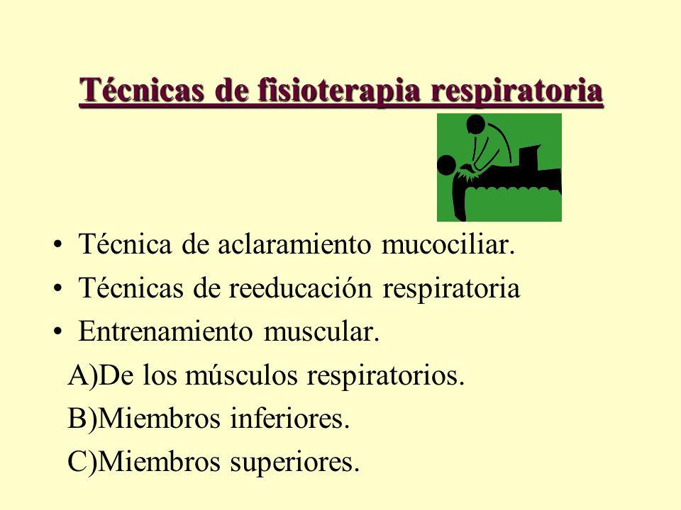 Técnicas de fisioterapia respiratoria