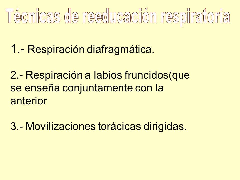 Técnicas de reeducación respiratoria
