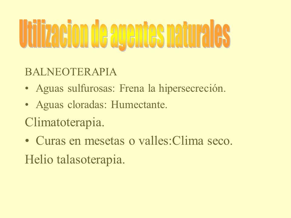 Utilizacion de agentes naturales