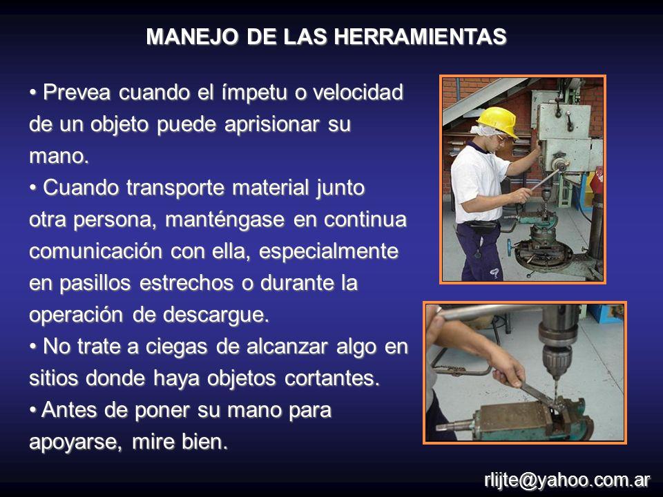 MANEJO DE LAS HERRAMIENTAS