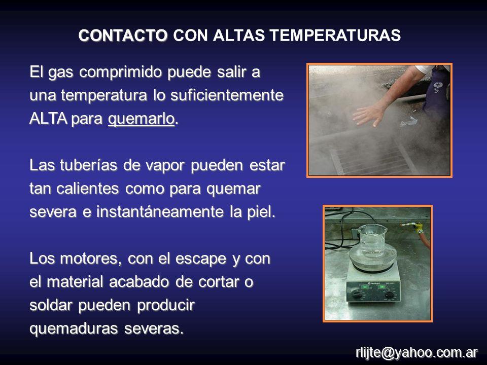 CONTACTO CON ALTAS TEMPERATURAS
