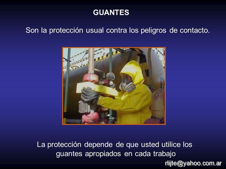 Son la protección usual contra los peligros de contacto.