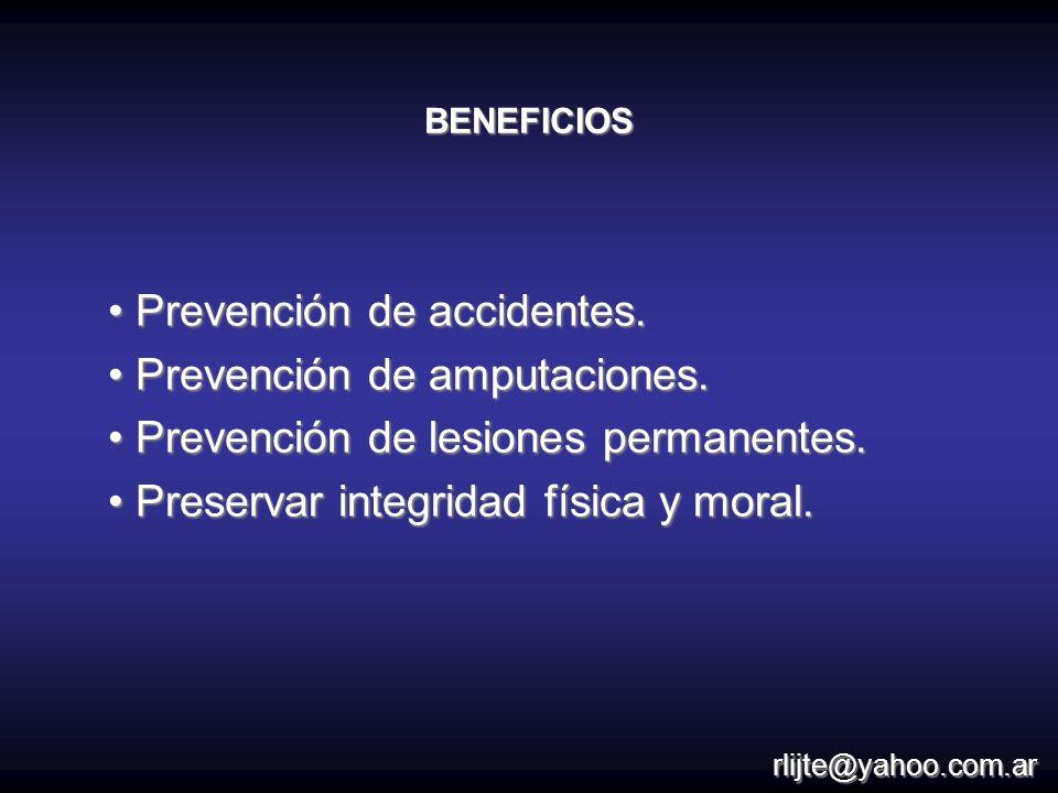 Prevención de accidentes. Prevención de amputaciones.