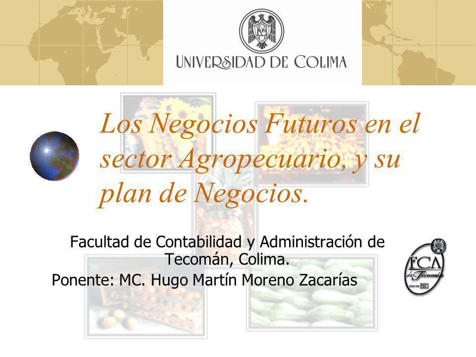 Los Negocios Futuros en el sector Agropecuario, y su plan de Negocios.