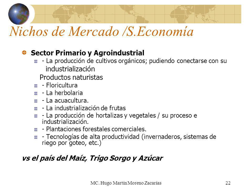 Nichos de Mercado /S.Economía