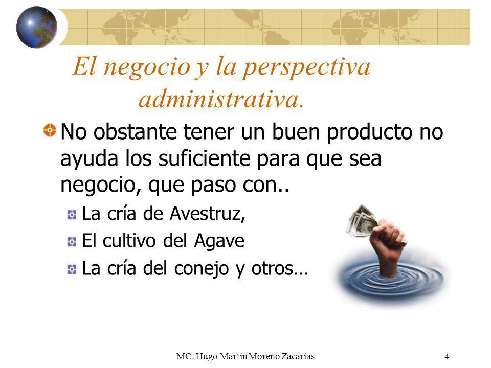 El negocio y la perspectiva administrativa.