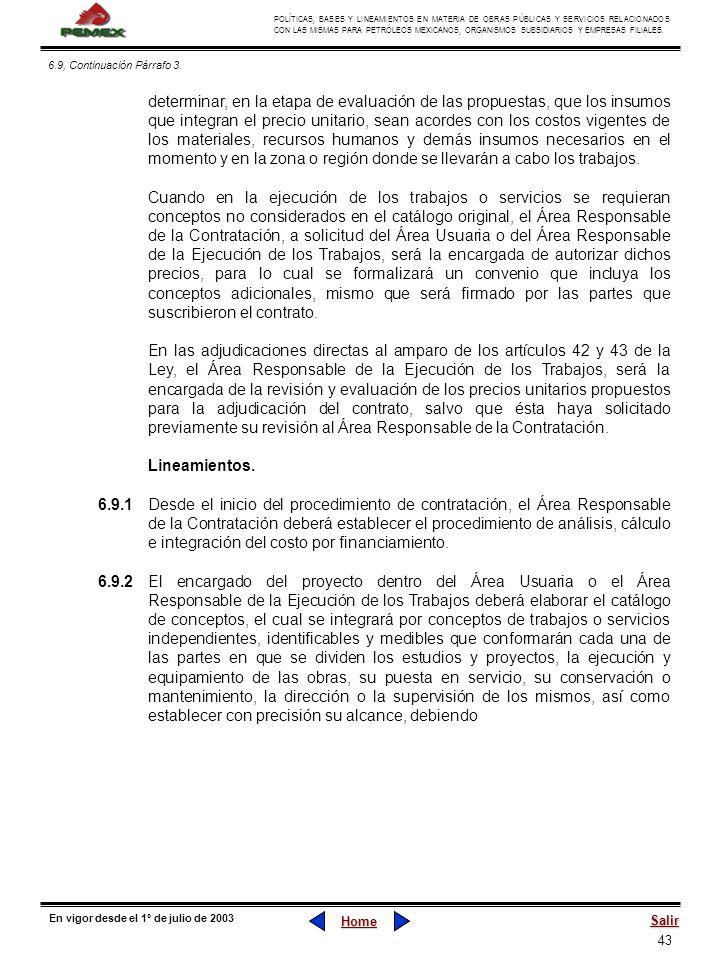 6.9, Continuación Párrafo 3.